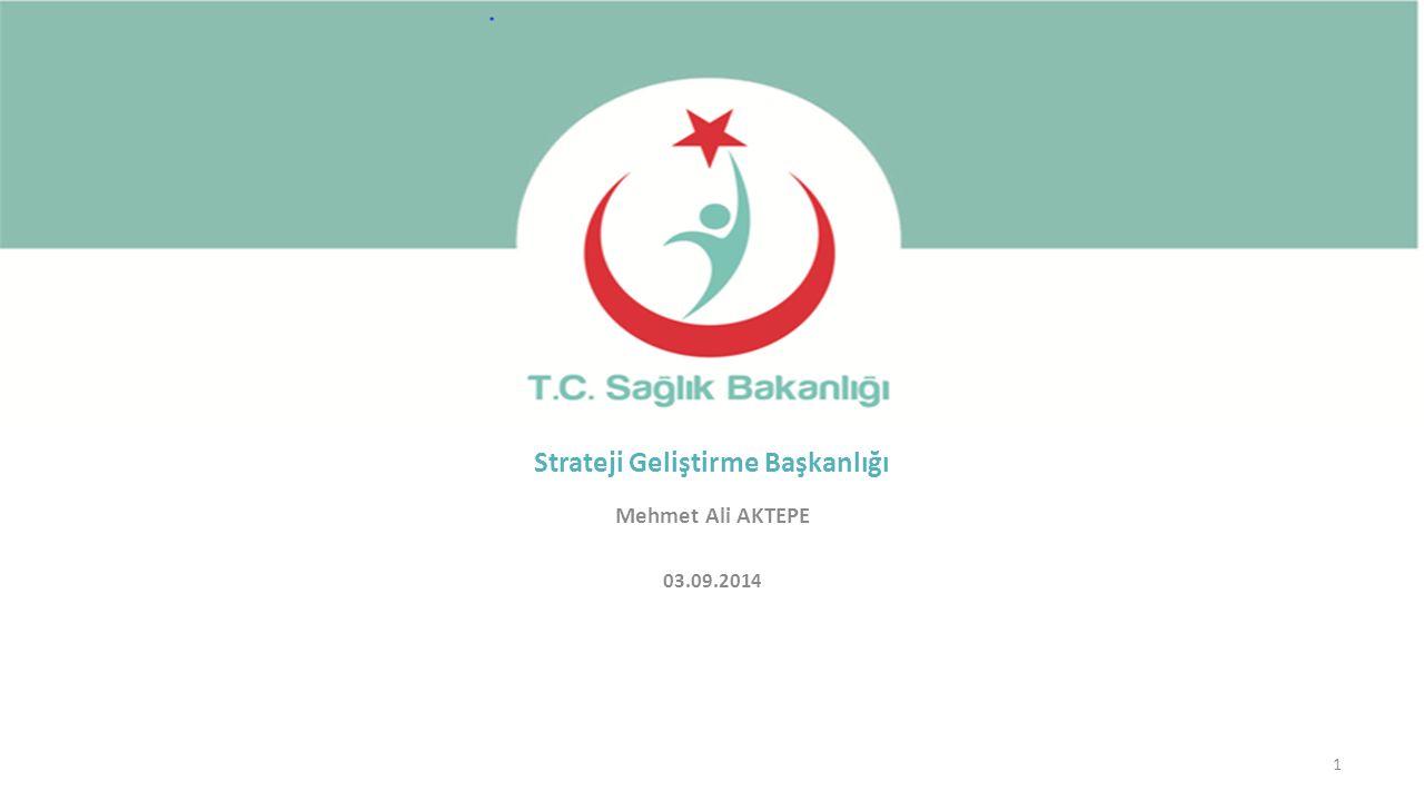 Mehmet Ali AKTEPE 03.09.2014 1 Strateji Geliştirme Başkanlığı
