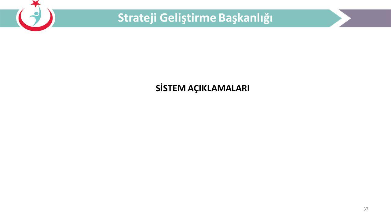 37 Strateji Geliştirme Başkanlığı SİSTEM AÇIKLAMALARI