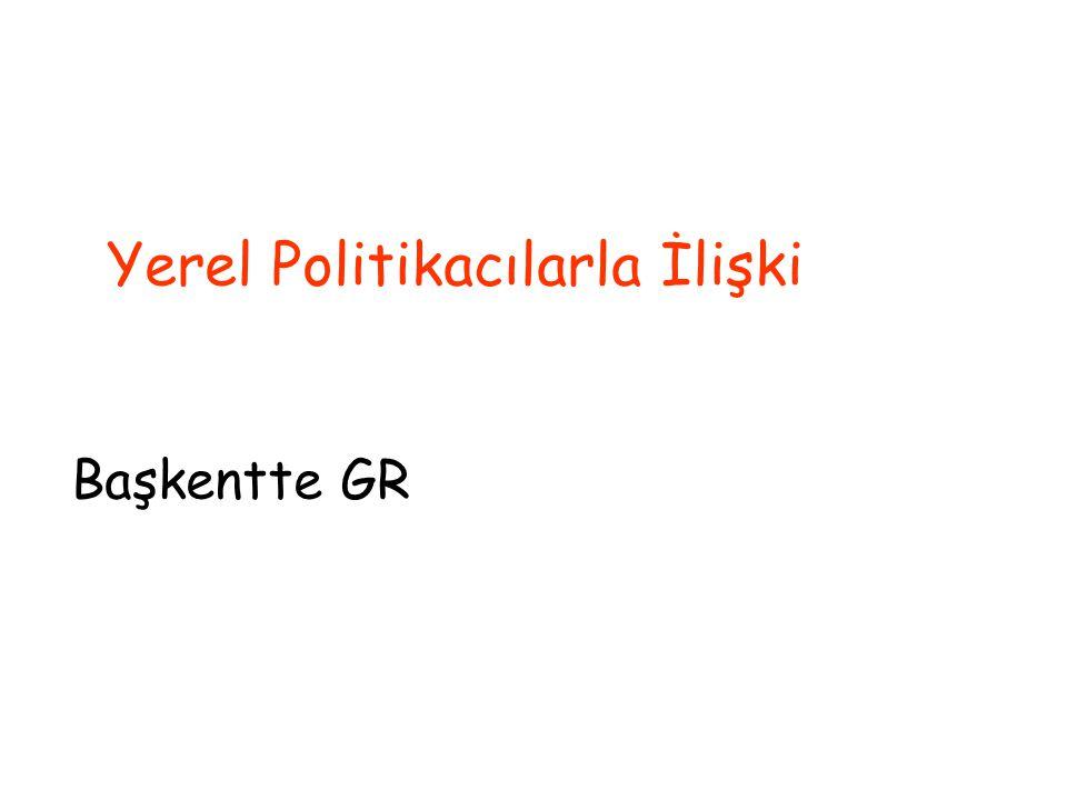 Yerel Politikacılarla İlişki Başkentte GR