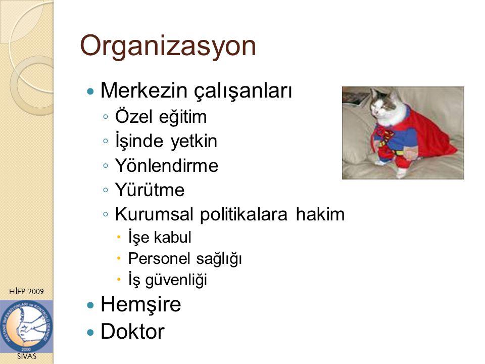 H İ EP 2009 S İ VAS Organizasyon Merkezin çalışanları ◦ Özel eğitim ◦ İşinde yetkin ◦ Yönlendirme ◦ Yürütme ◦ Kurumsal politikalara hakim  İşe kabul