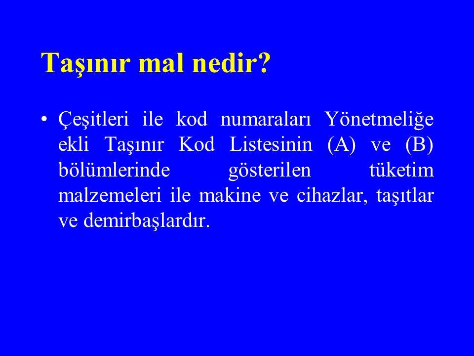Örnek; Tarım Reformu Genel Müdürlüğü Ankara Bölge Müdürlüğünün iki ayrı ambarı olduğunu varsayalım.