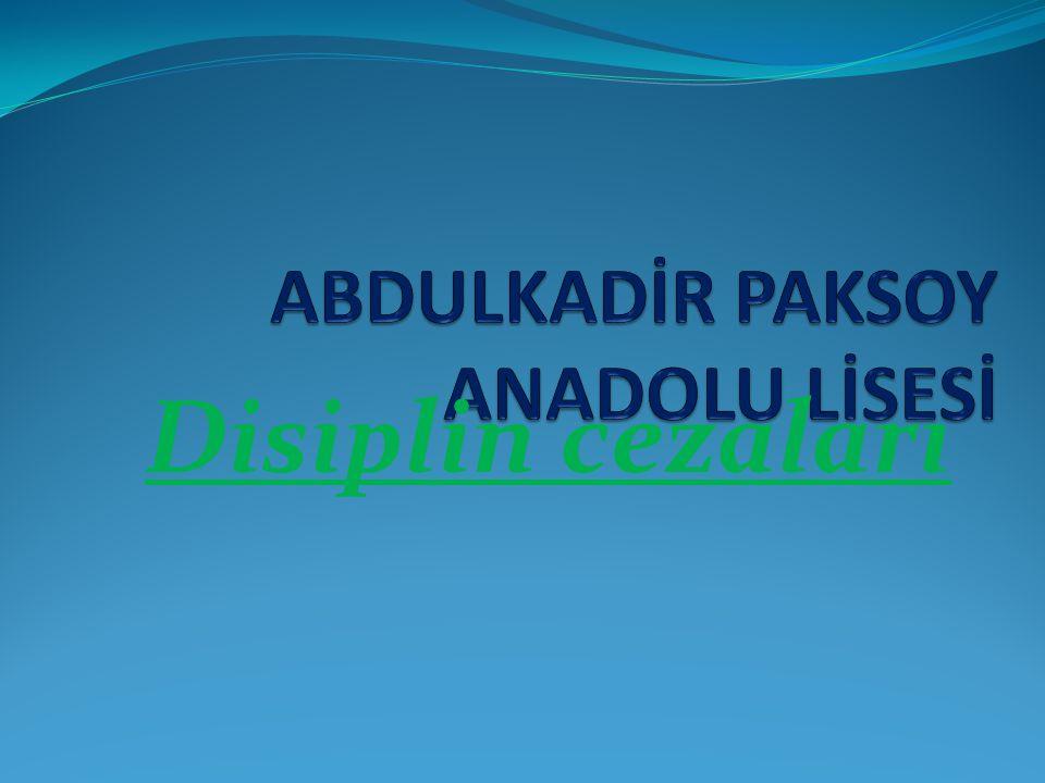 Disiplin cezaları