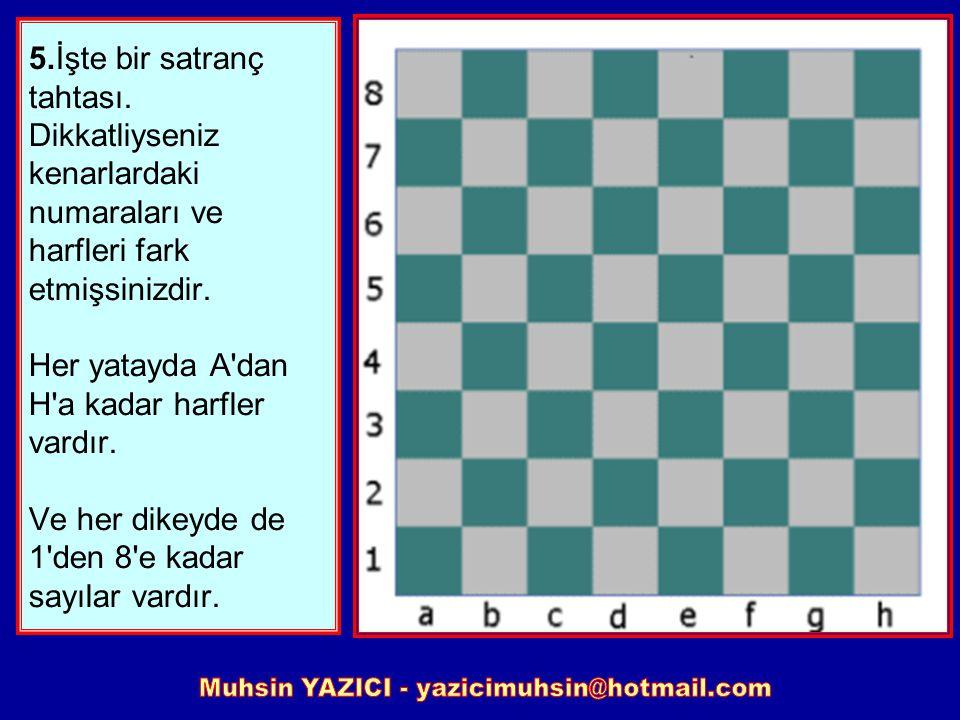 4. Bazı insanlar hamleleri yazmanın sıkıcı olduğunu düşünürler ama buna alışırsanız satrançta çok daha iyi ilerlersiniz. Büyük olasılıkla en iyisi 1 s