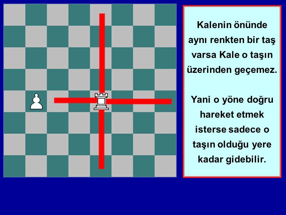 Bu ders size Kalenin hareketini öğretecektir. Kale ileri, geri, sağa ve sola istediği miktarda ilerleyebilir.