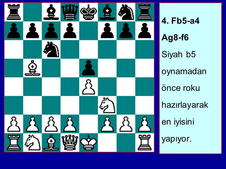 3...a7-a6 İstediği zaman açmazı engelleyebilm ek için.