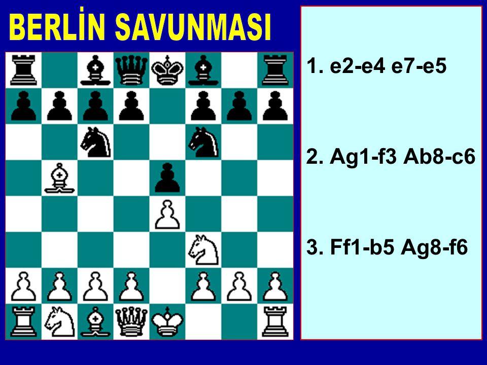 Düşük seviyedeki oyunlarda karşılaşacağınız bir başka hamle. Beyaz'ın fikirleri c2-c3, ardından d2-d4 veya Af3xe5, ardından d2-d4'dür. Bu fikirler Siy