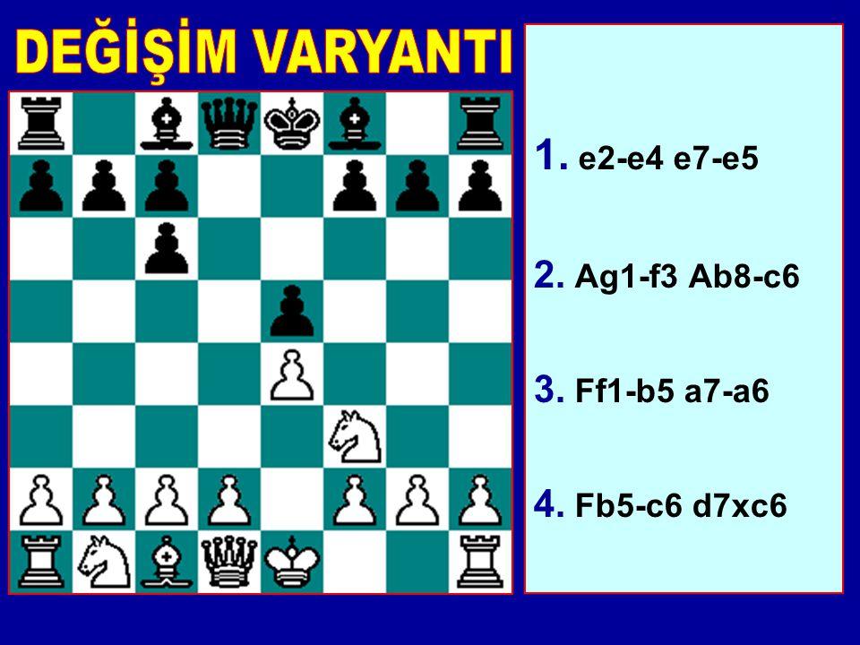 Bir başka sağlam bir savunma. Beyaz'ın genelde oynadığı hamle 4.0-0 ve e Piyonunu tehdit etmektir. Ardından d7-d6 Steinitz Savunması'dır. Veya Siyah A