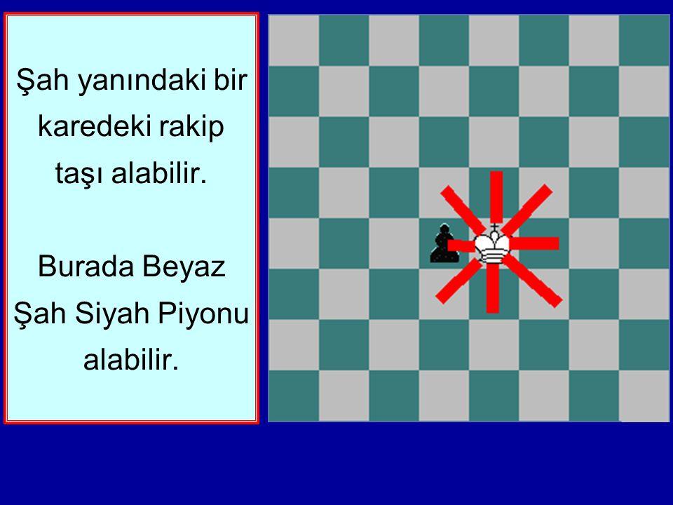 Bu ders Şahın hareketini öğretecektir. Şah bir seferinde herhangi bir yöne sadece bir kare gidebilir. Yukarı, aşağı, sağa, sola ve çapraz.