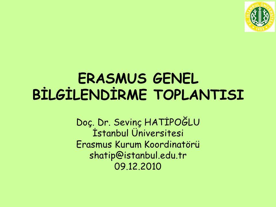 ERASMUS GENEL BİLGİLENDİRME TOPLANTISI Doç.Dr.