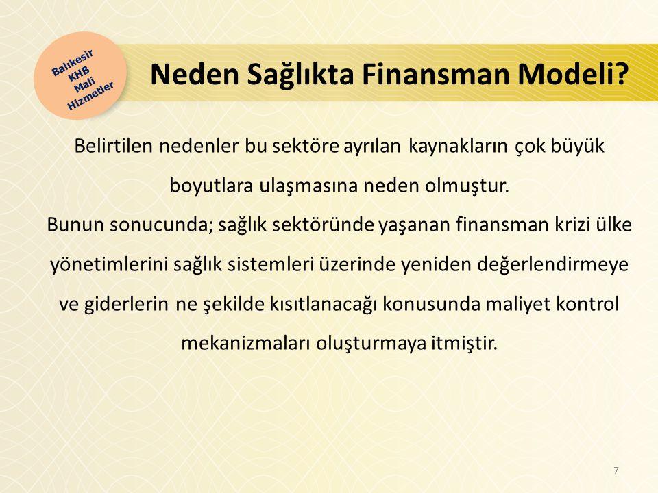 Neden Sağlıkta Finansman Modeli.