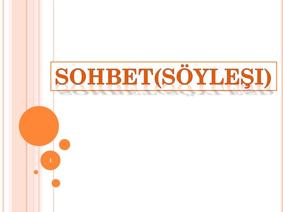 S OHBET ILE MAKALE ARASıNDAKI FARKLAR * Sohbet ve makale her konuda olabileceği gibi sohbet daha çok günlük olaylarla ilgili olarak yazılır ve yayımlanır.