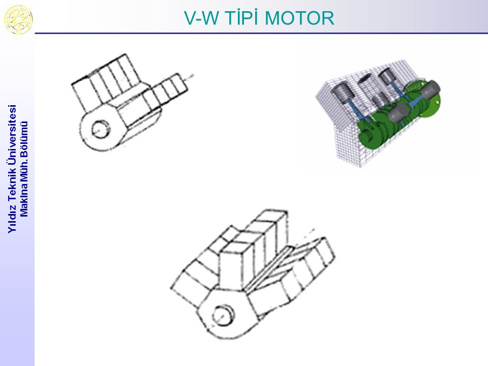 Yıldız Teknik Üniversitesi Makina Müh. Bölümü H-BOKSOR TİPİ MOTOR