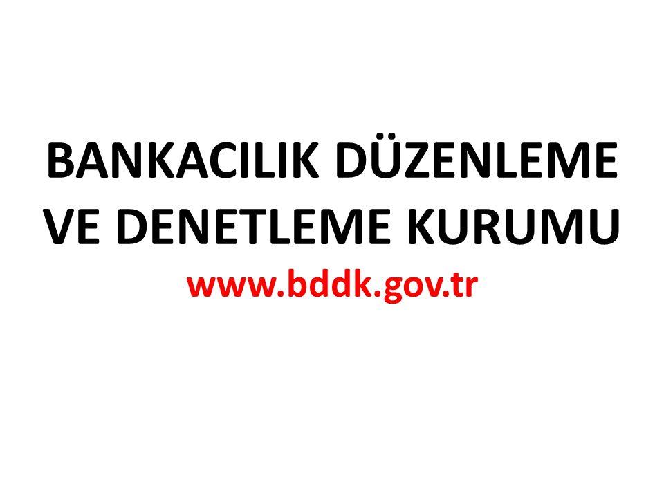 BANKACILIK DÜZENLEME VE DENETLEME KURUMU www.bddk.gov.tr