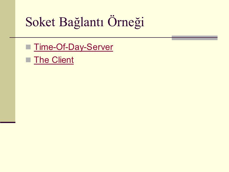 Soket Bağlantı Örneği Time-Of-Day-Server The Client