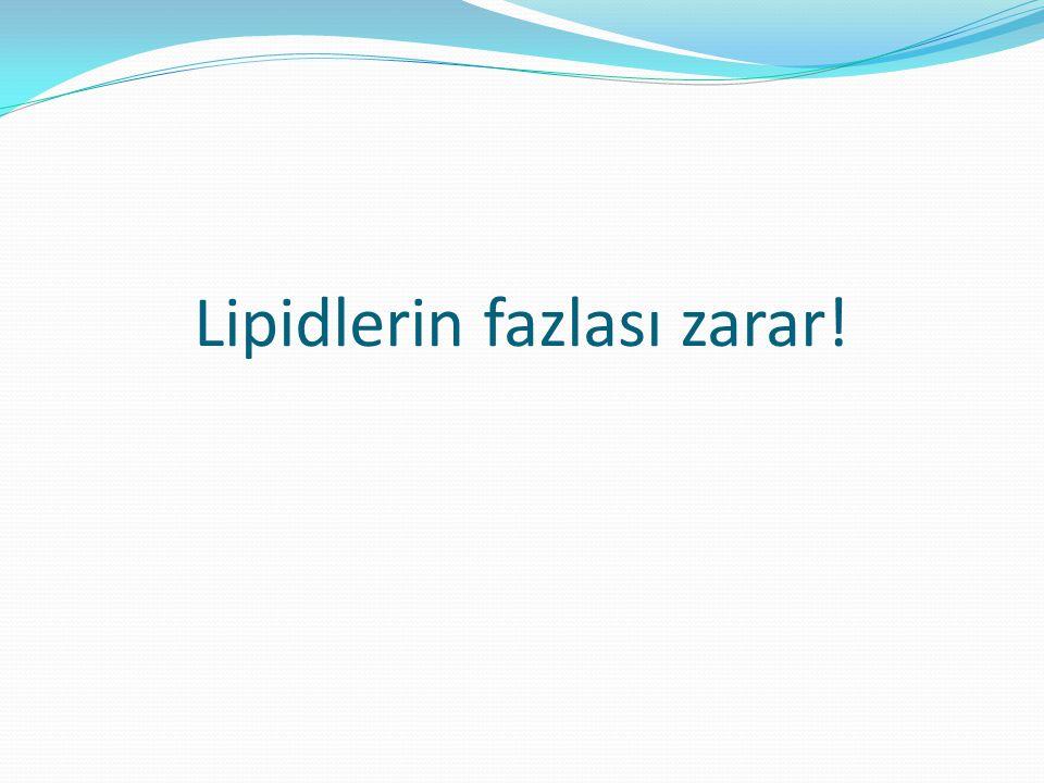 Lipidlerin fazlası zarar!