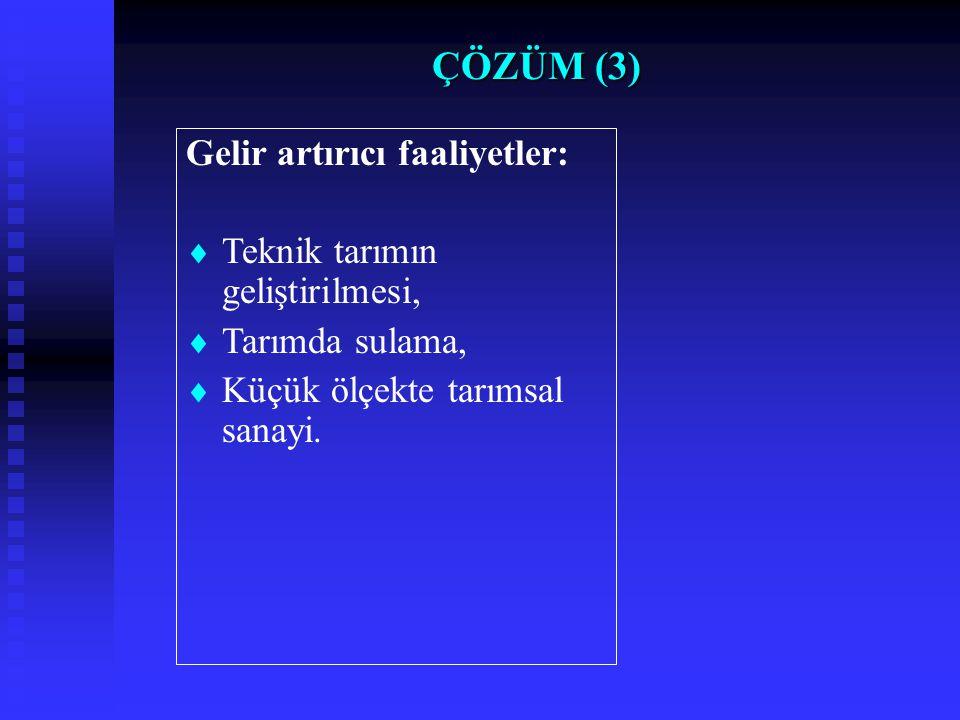 TARIMSAL FAALİYETLERİNİN MİKTARI (Havza)