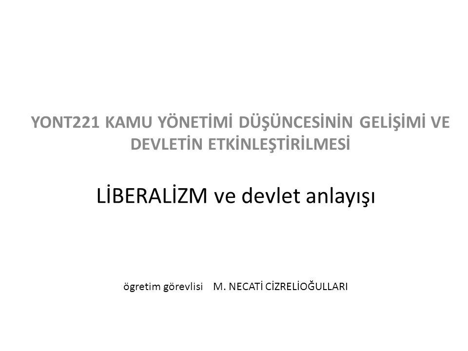 Neo-Liberalizm Neo-liberalizmin amacı, Devlet müdahalesinin minimal düzeyde olduğu bir toplumda kendi kendine işleyerek, kendine özgü kurallarıyla süreklilik gösteren piyasa mekanizmasını oluşturmaktır.