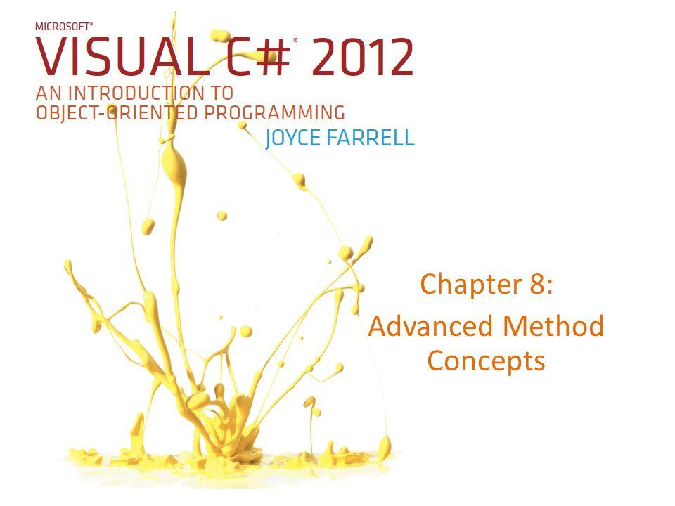 Belirsiz Metotlardan Kaçınma 22Microsoft Visual C# 2012, Fifth Edition Şekil 8-21 Belirsiz metot içeren programın çağrılması