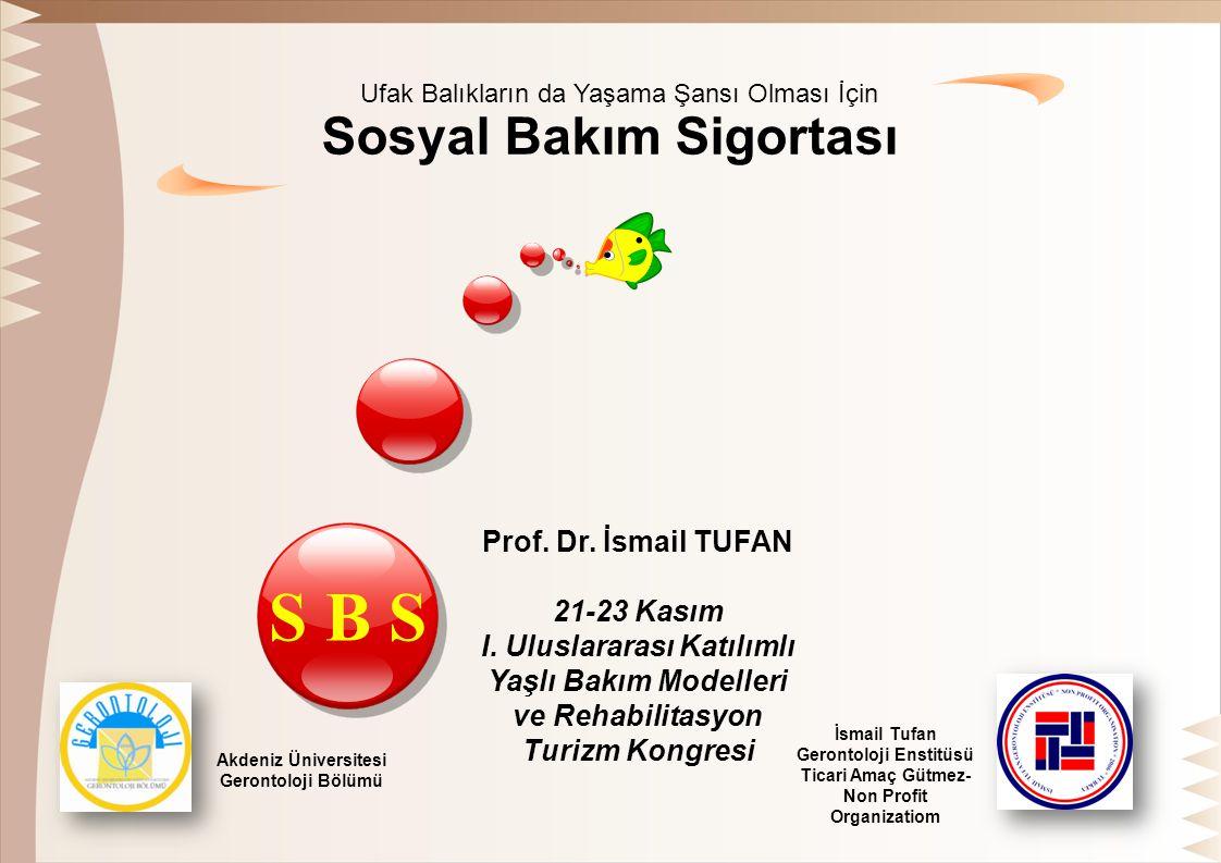 Sosyal Bakım Sigortası Prof. Dr. İsmail TUFAN 21-23 Kasım I.