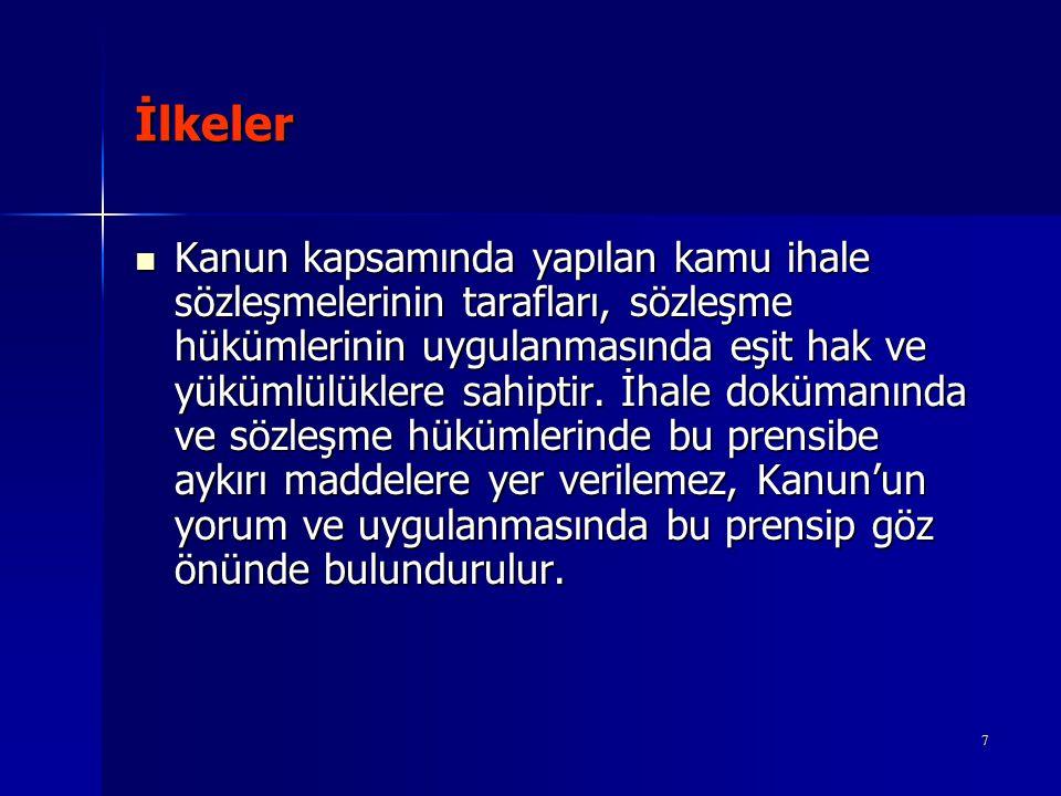 Sözleşmelerde Yer Alması Zorunlu Hususlar k) Kesin teminat miktarı ile kesin teminatın iadesine ait şartlar.
