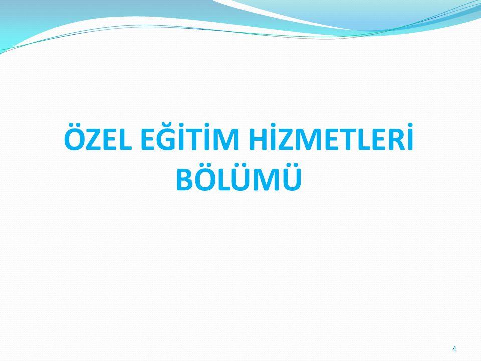 ÖZEL EĞİTİM HİZMETLERİ BÖLÜMÜ Polatlı Rehberlik ve Araştırma Merkezi 4