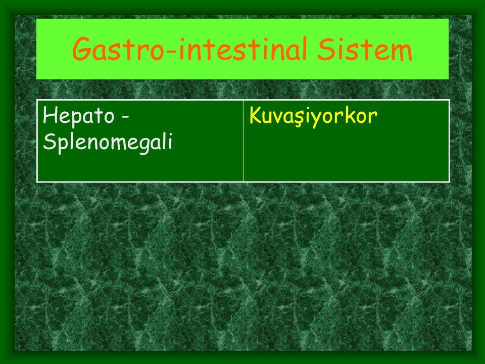 Gastro-intestinal Sistem Hepato - Splenomegali Kuvaşiyorkor