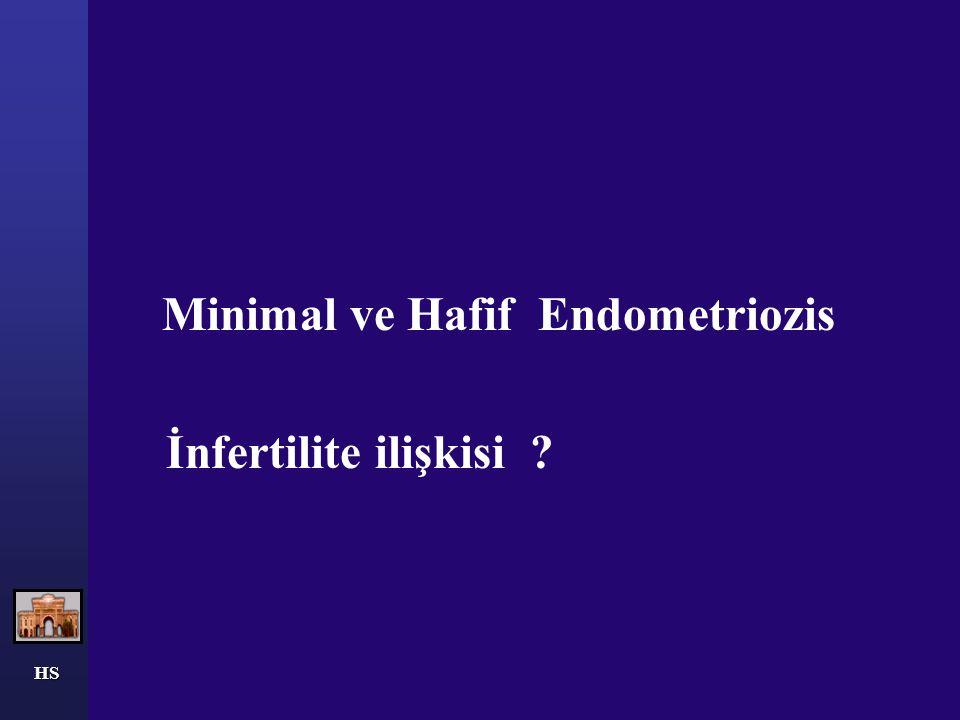 HS Minimal ve Hafif Endometriozis İnfertilite ilişkisi ?