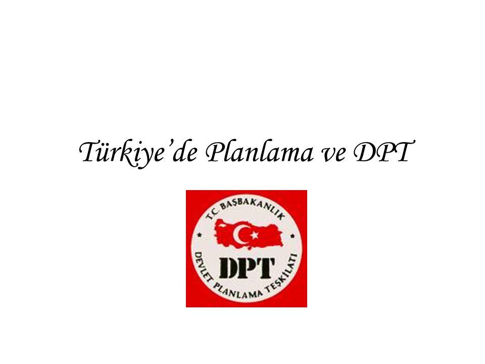 Türkiye'de Planlama ve DPT