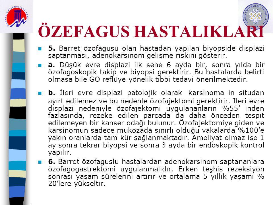 ÖZEFAGUS HASTALIKLARI 5.