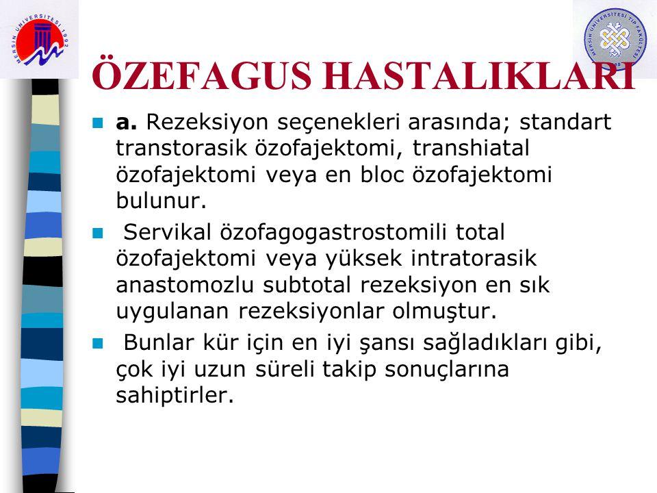 ÖZEFAGUS HASTALIKLARI a.