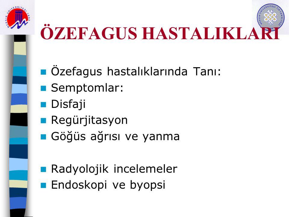 ÖZEFAGUS HASTALIKLARI C.Belirtiler.