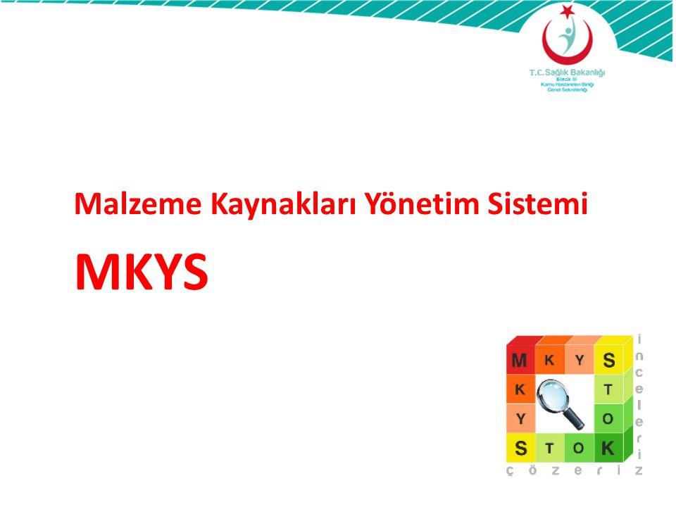 Malzeme Kaynakları Yönetim Sistemi MKYS