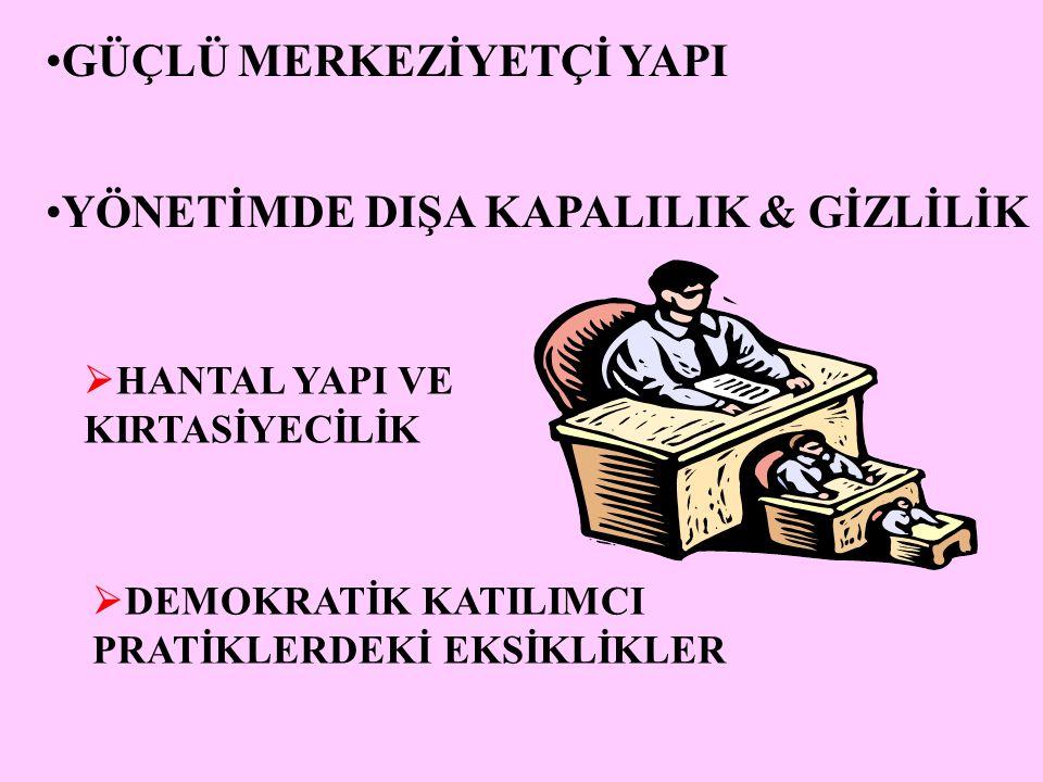 Etik sorgulamalar Kamu yönetiminde yolsuzluk, kural hâkimiyeti(bürokrasi) demokrasi ve insan haklarını, sosyal adaleti, demokratik kurumların istikrarını toplumun ahlaki temellerini etkileyerek kötü yönetime neden olmaktadır Karşı strateji: iyi yönetim, demokratik yönetişim