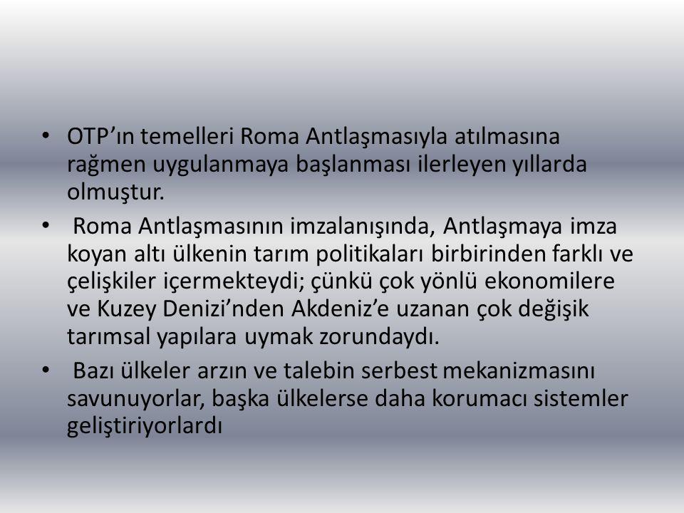OTP'ın temelleri Roma Antlaşmasıyla atılmasına rağmen uygulanmaya başlanması ilerleyen yıllarda olmuştur. Roma Antlaşmasının imzalanışında, Antlaşmaya