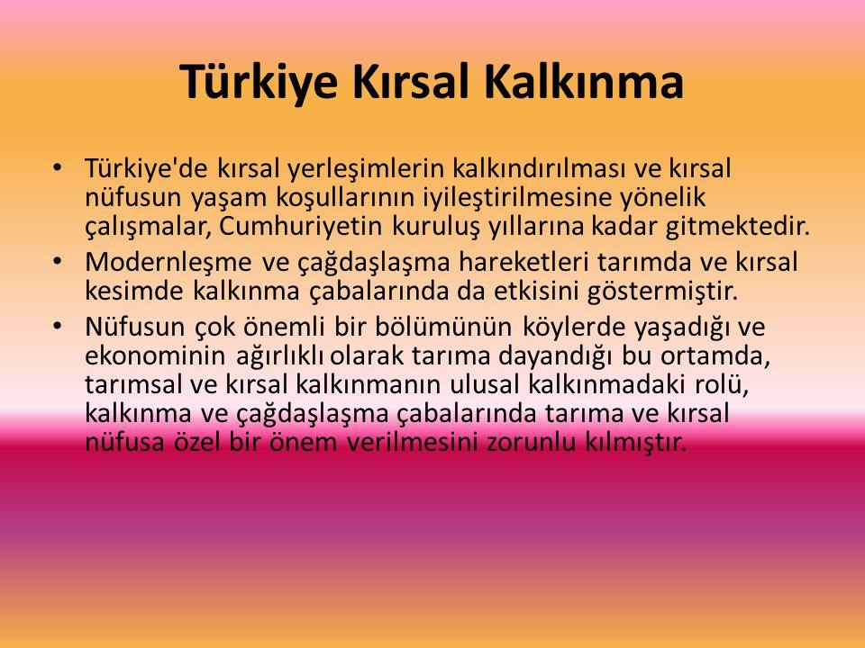 Türkiye Kırsal Kalkınma Türkiye'de kırsal yerleşimlerin kalkındırılması ve kırsal nüfusun yaşam koşullarının iyileştirilmesine yönelik çalışmalar, Cum