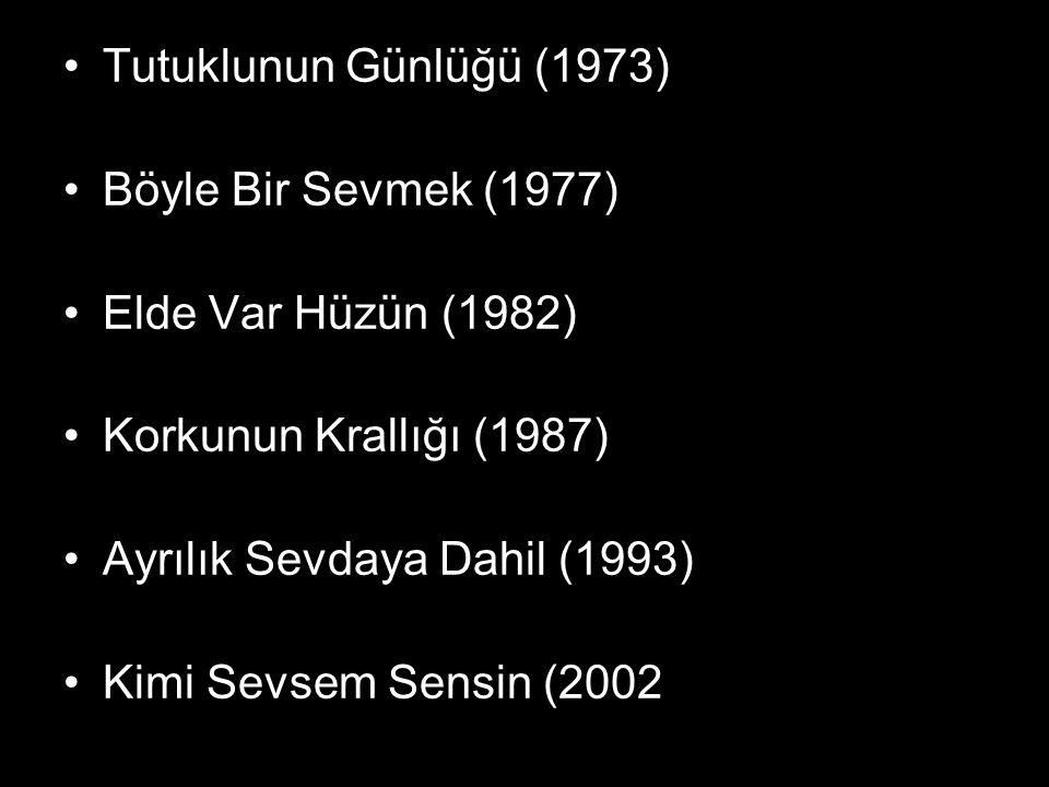 Tutuklunun Günlüğü (1973) Böyle Bir Sevmek (1977) Elde Var Hüzün (1982) Korkunun Krallığı (1987) Ayrılık Sevdaya Dahil (1993) Kimi Sevsem Sensin (2002