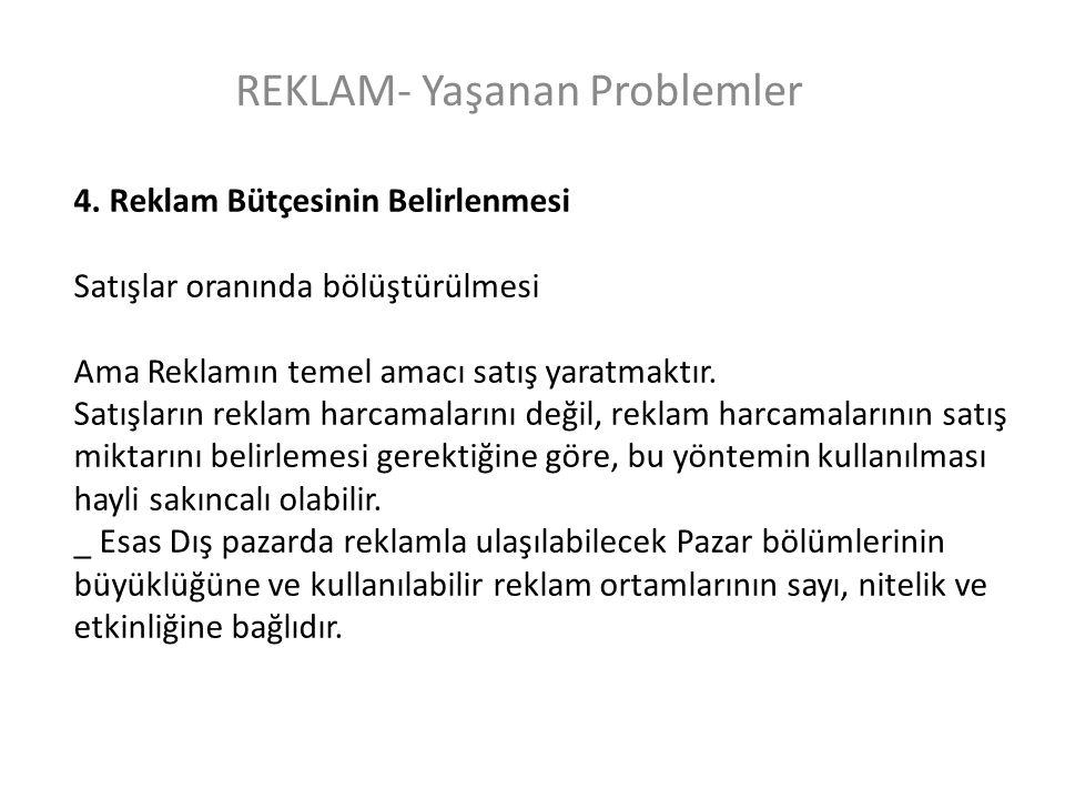 REKLAM- Yaşanan Problemler 4.