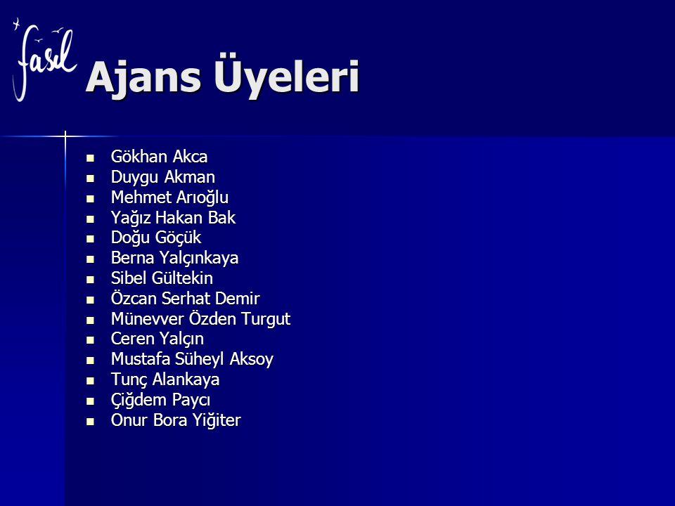 Ajans Üyeleri Gökhan Akca Gökhan Akca Duygu Akman Duygu Akman Mehmet Arıoğlu Mehmet Arıoğlu Yağız Hakan Bak Yağız Hakan Bak Doğu Göçük Doğu Göçük Bern