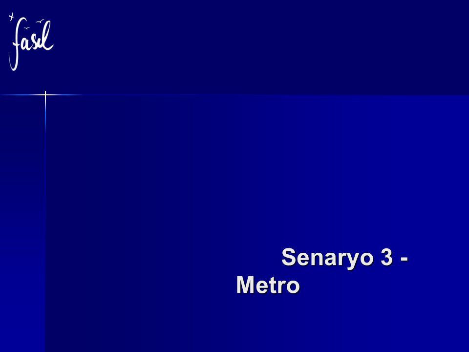 Senaryo 3 - Metro Senaryo 3 - Metro