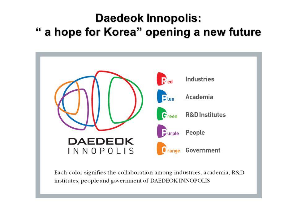 "Daedeok Innopolis: "" a hope for Korea""opening a new future Daedeok Innopolis: "" a hope for Korea"" opening a new future"