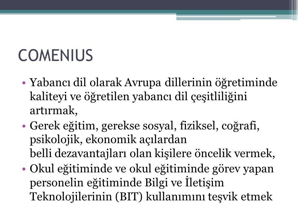 COMENIUS BÖLGESEL ORTAKLIKLAR Comenius Bölgesel Ortaklıklar 2 ortak bölgeden (partner regions) oluşur yani iki taraflı (bilateral) bir ortaklık türüdür.