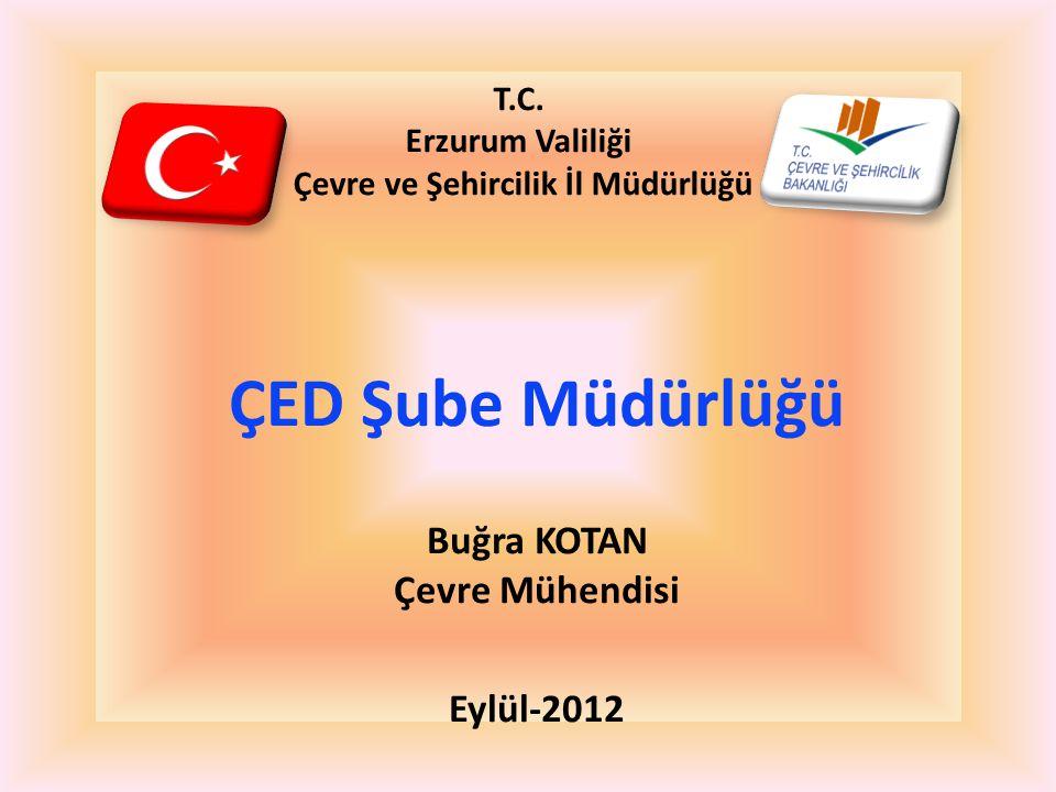 T.C. Erzurum Valiliği Çevre ve Şehircilik İl Müdürlüğü ÇED Şube Müdürlüğü Buğra KOTAN Çevre Mühendisi Eylül-2012