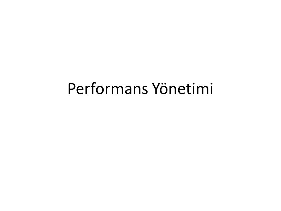 Performans Yönetimi