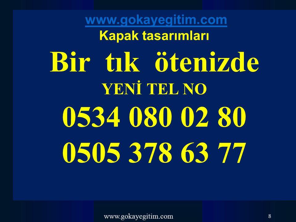 www.gokayegitim.com 109