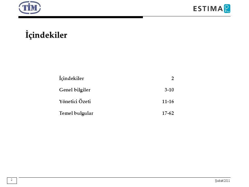 Şubat 2011 İçindekiler İçindekiler2 Genel bilgiler3-10 Yönetici Özeti11-16 Temel bulgular17-62 2
