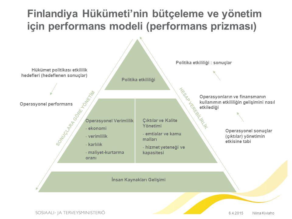 Performans yönetimi: bakanlık ve kurumlar  Performans Yönetimi bir çeşit alıcı-satıcı modeli  Bakanlık performans yönetimini uygular (sonuçlara göre yönlendirme)  Temel belge her yıl güncellenen dört yıllık performans anlaşmasıdır (parlamento süresiyle aynı zamana denk gelir)  Yıllık performans anlaşması  Bütçe  Yönetim sözleşmesi  Müzakereler – Gözetim bölümü ve kurumlar –İki tarafın yönetimi –Gerekirse, daimi sekreter  Kurumun genel direktörü ve sekreter tarafından imzalanır.