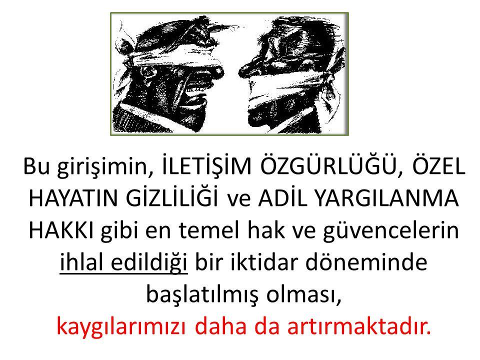? ? ? Türkiye'de YARGI BAĞIMSIZLIĞI'NI güçlendirmek yönünde köklü REFORMLARA GEREKSİNİM varken, sadece HSYK ve ANAYASA MAHKEMESİ gibi yargının üst kurumlarında yapısal değişikliğe gitmenin bir yargı reformu olarak tanımlanması olanaksızdır.