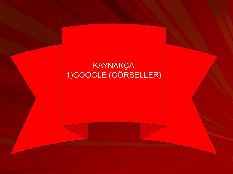 KAYNAKÇA 1)GOOGLE (GÖRSELLER)