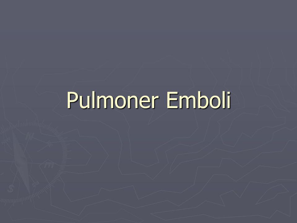 Pulmoner Emboli