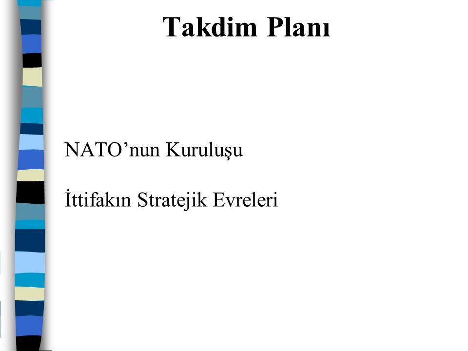 Avrupa'nın ekonomisinin ve altyapısının tahrip olması Beliren Sovyet tehdidi ABD ile işbirliğine gidilme zorunluluğu 4 Nisan 1949 tarihinde imzalanan Kuzey Atlantik Antlaşması NATO'nun Kuruluşu